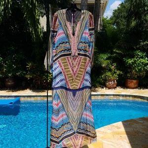 Hale Bob silk dress size large